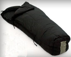 Military Surplus GI Issue -10° Intermediate Sleeping Bag Mummy Style Black