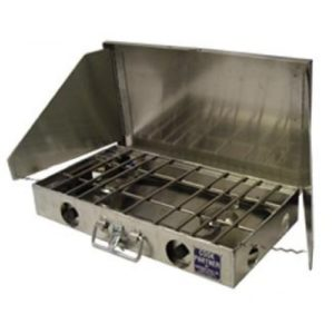 Partner Steel Cook partner Two Burner Stove with Windscreen