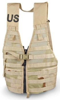 Military Surplus GI Issue MOLLE II Tactical FLC Vest with Zipper, Desert Camo