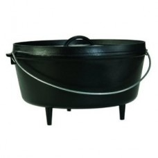 Lodge 14″ Deep Cast Iron Camp Dutch Oven 10 qt.