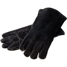 Lodge Black Leather Gloves 14.56″