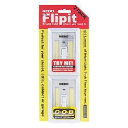 NEBO FlipIt LED Light Switch 2 Pack – 215 Lumens