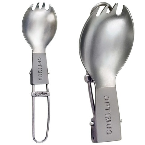 Optimus Titanium Folding Spork 6.5″