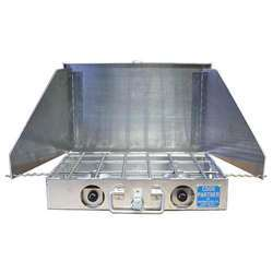 Partner Steel Cook Partner 16 inch 2 Burner Propane Stove With Windscreen