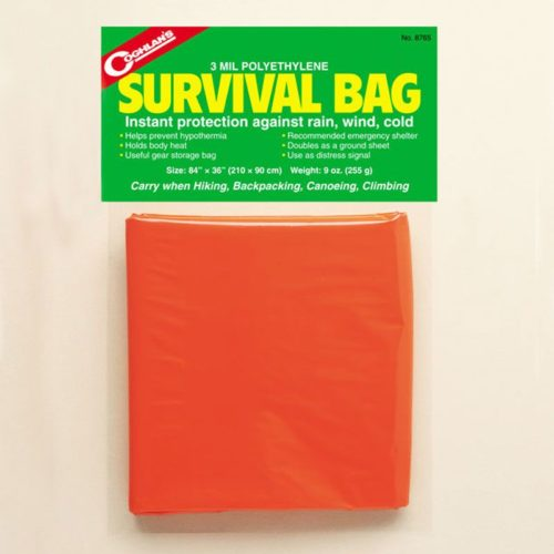 Coghlans Survival Bag Orange 84″