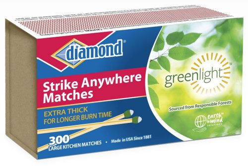 Diamond Greenlight Strike Anywhere Large Kitchen Matches
