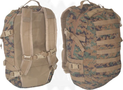 Military Surplus GI Issue USMC Gen 2 Digital MARPAT ILBE 3 Day Assault Pack Woodland Camo