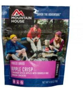 Mountain House Freeze Dried Apple Crisp 3 Servings