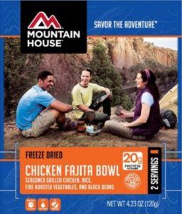 Mountain House Chicken Fajita Bowl with Vegetables 2 Servings