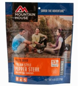 Mountain House Italian Style Pepper Steak 2.5 Servings