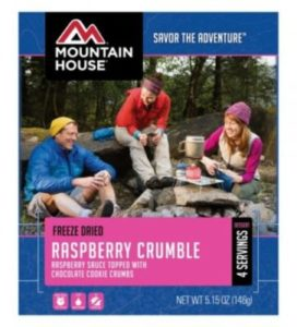 Mountain House Freeze Dried Raspberry Crumble 4 Servings