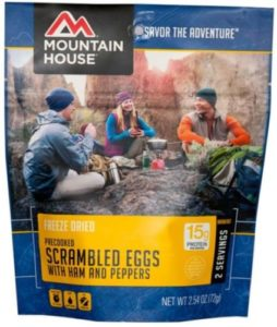 Mountain House Scrambled Eggs with Ham 2 Servings