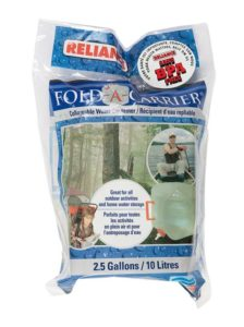 Reliance Fold-A-Carrier Water Container 2.5 Gallon