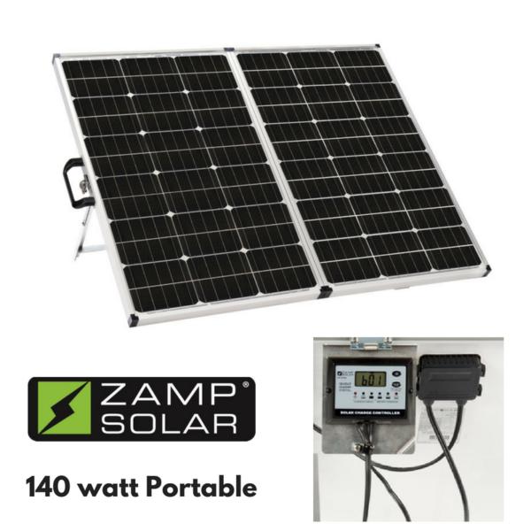 Zamp 140 Watt Portable Solar Charging System A Happy Camper