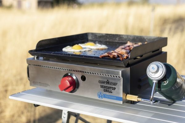 Camp Chef VersaTop Grill with Eggs and Bacon