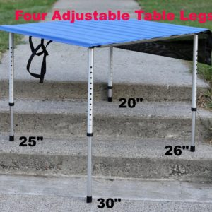 Roll A Table with Adjustable Legs