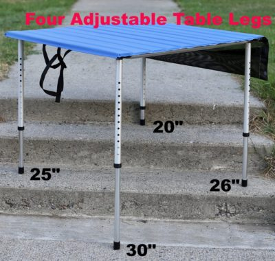 Camp Time Roll A Table Camping Table 30″ with Adjustable Legs