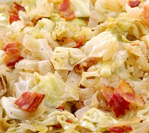Southern Bacon Cabbage Dutch Oven Style