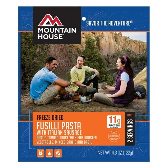 Mountain House Fusilli Pasta with Italian Sausage -2 Servings