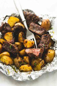 Garlic Steak Potato Foil Dinners