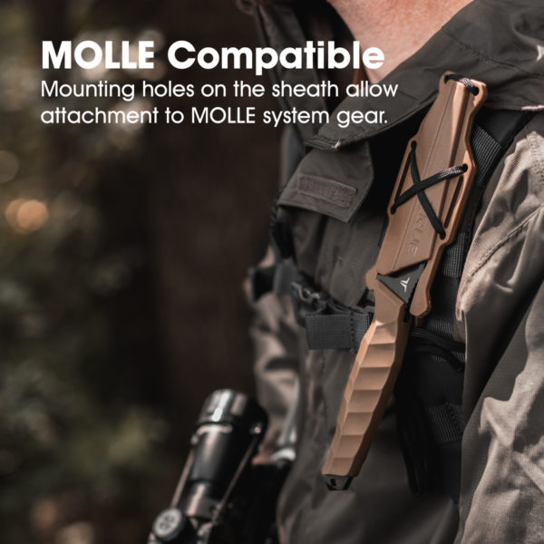 True Fixed Blade 4 Inch Molle